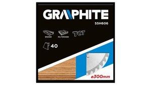 Graphite 55H606 Cirkelzaagblad voor Hout 300 mm TCT