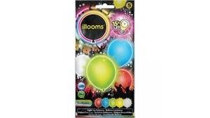 Illooms Ballonnen Kleurenmix met LED Licht 5 Stuks