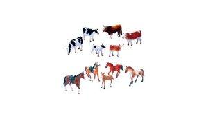 Newray Set Paarden of Koeien 6 stuks Assorti