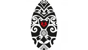 Skimboard Tribal Zwart/Wit 100 cm