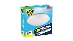 Big Bright LED Plafond/Wandlamp 12W 3000K 28cm