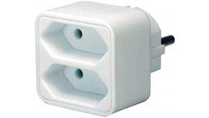 Brennenstuhl BN-1508030 Stopcontact Splitter 2 X Euro Wit