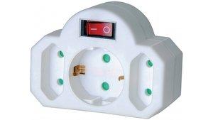 Brennenstuhl BN-1508100 Stopcontact Splitter Aan / Uit-schakelaar 1 X Schuko / 2 X Euro Wit