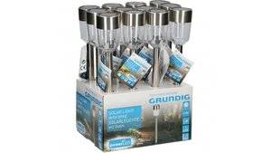 Grundig GR16017 Led Solar Tuinlamp Met Spies Led Display 12 Stuks