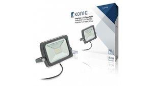 König KNLEDFLDRL20W LED Floodlight zonder Driver 20W 1500 Lm Zwart