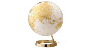 Atmosphere NR-0331F7NQ-GB Globe Bright Gold Diameter 30cm Kunststof Voet Met Ver- Lichting