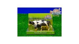 Kids Globe Farming Koeien Zwart/Wit 2 Stuks 1:32