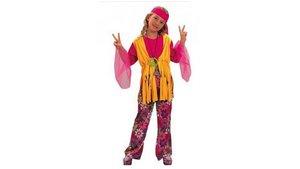 Clown Kinderkostuum Hippie Meisje 7-9 jaar