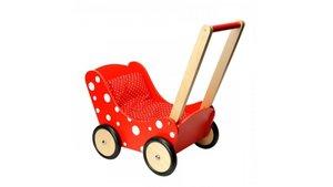 Simply for Kids Houten Poppenwagen Stippeltje Rood