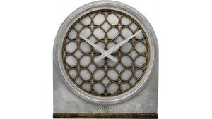NeXtime NE-5205BR Tafelklok 21.5x24.5x5.5 Cm, Polyresin/Wood, Grijs