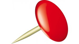 Alco AL-151-12 Punaises Sun 9,5mm Messing Doos A 100 Stuks Rood