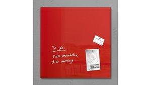 Sigel SI-GL114 Glasmagneetbord Artverum 480x480x15mm Rood