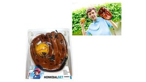 Honkbalhandschoen Bruin + Bal