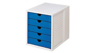 HAN HA-1450-14 Ladenkast Met 5 Gesloten Laden Grijs / Blauw