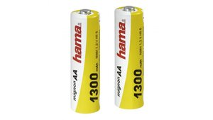 Hama Batterij 2 X Aa Nimh Mignon 1,2V