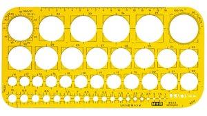 Möbius & Ruppert MR-85230670 Cirkelsjabloon Geel