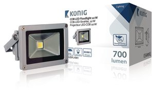 König KNLEDFL10W1 LED Floodlight 10W 700Lm Grijs